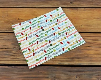 Cloth Napkins, Set of 4, Thanksgiving napkins, Give Thanks napkins, Count Your Blessings, Double-sided, Dinner napkins, Reusable Sew4MyLoves