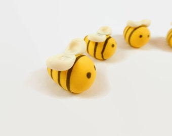 12 count Gumpaste Bumble Bees, Bee cupcake toppers, cake decorations