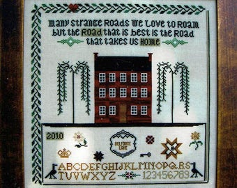 Road Home by Tree of Life Samplings Counted Cross Stitch Pattern/Chart