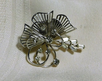 Vintage Sterling TK  Brooch