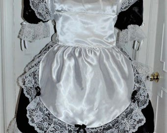 Maid Costume Outfit Adult Baby Sissy Dress Custom Made