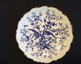 Vintage Coalport Bone china saucer bluebird.