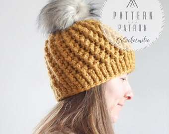 CROCHET PATTERN #009---Swirly hat