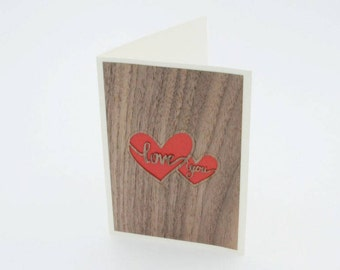 Love Card - Love you - Valentine's day gift card - Greeting card - Gift card