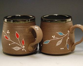 Coffee mug pottery, Mug set 2, coffee mug, handmade coffee mug, pottery coffee mug, coffee mug handmade, coffee cup, tea cup, cappuccino