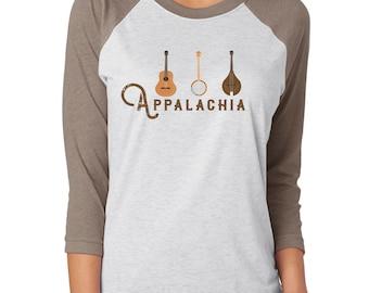 Appalachia Instruments 3/4 Sleeve Raglan Baseball Tshirt