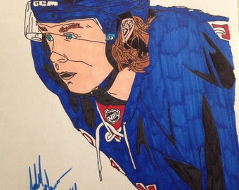 New York Rangers Carl Hagelin Drawing