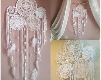 Hanging wall dream catcher multi circles