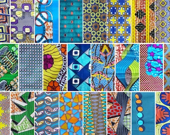 Lot 10 samples to choose * African wax fabric * various patterns