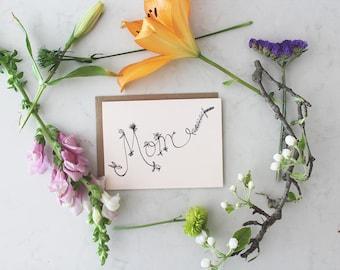 Mom (floral script)