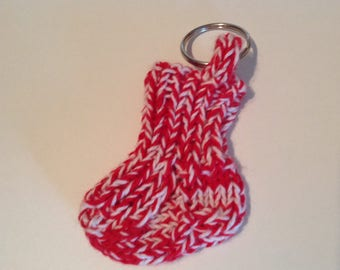 Cotton sock keychain, cotton sock keyring, bomull sock keyring, bomull sock keychain