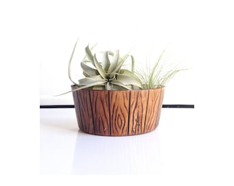 Vintage Faux Wood Log Planter