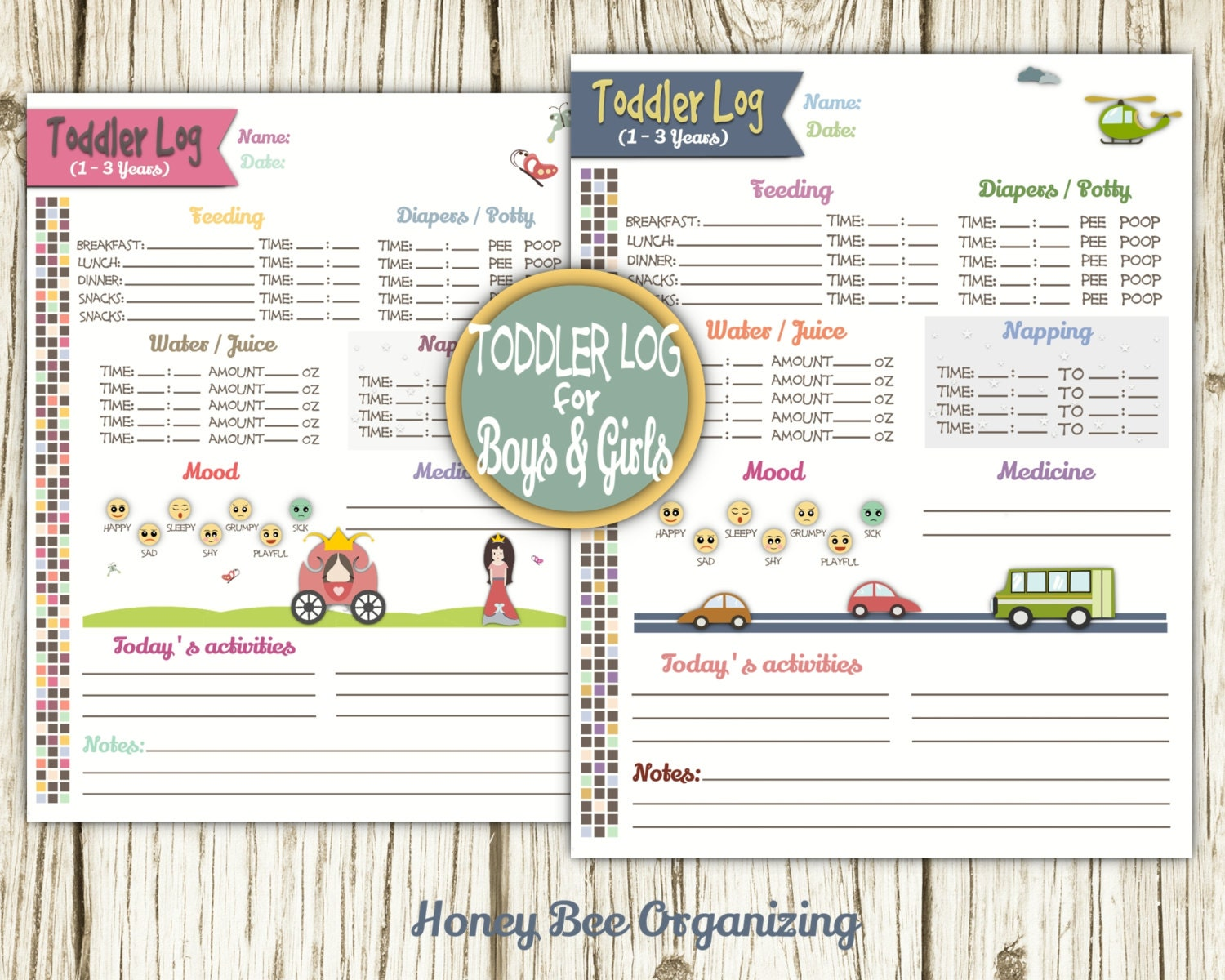 baby daily report sheet