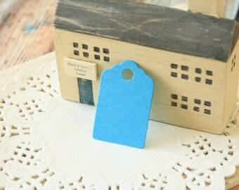 Mini AQUAMARINE Blue Scallop Swing Tags