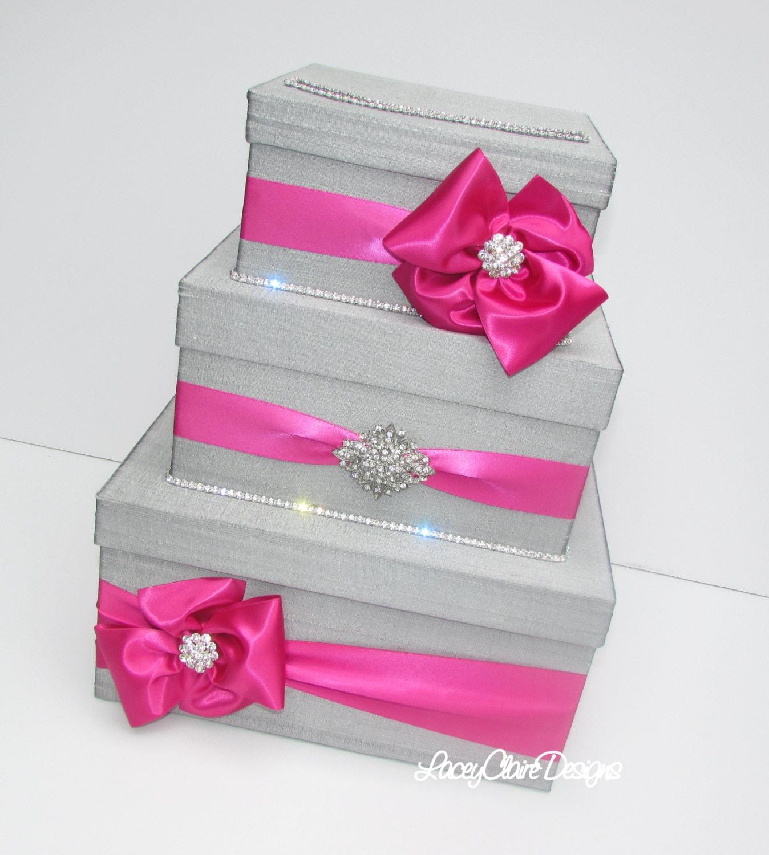 Wedding Gift Box Silver Card Box Money Holder Envelope