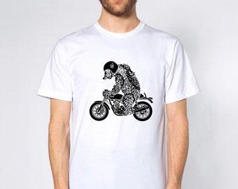 KillerBeeMoto: Bear On A British Motorcycle Short & Long Sleeve Motorcycle Shirts