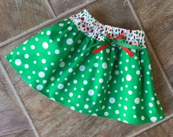 Christmas Skirt for Girls, Baby Girl Christmas Skirt, Toddler Girl Christmas Outfit, Newborn Girl Christmas Dress, Holiday Skirt, Handmade