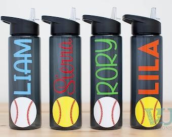 Baseball Gift - Softball Gift - Water Bottle with Name - Baseball Softball Team Gift - 24 oz Water bottle with name - Banquet Gift