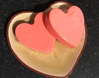 Heart Shaped Goat's Milk Soap with Cherry fragrance oil