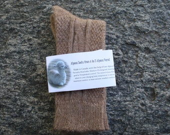 Alpaca wool socks - Dress Style - Super cozy warm and soft socks Size SMALL