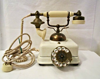 French Style Victorian Telephone, Retro European Style Rotary Phone, Victorian Style Phone