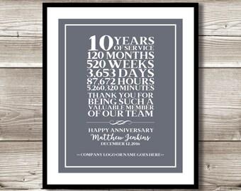 15 Year Work Anniversary Gift Employee Gift Employee