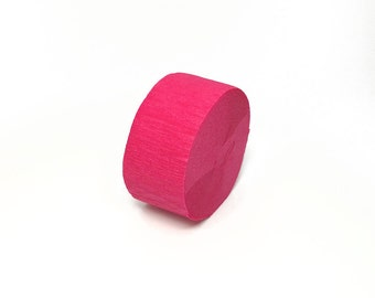 Bombay Pink Crepe Paper Streamer Roll - 150 Feet Long - Paper Craft Party Supplies