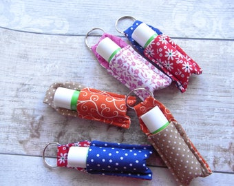 Handmade lip balm key fob: key ring, lip protector, chapstick holder, key chain