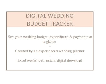 Wedding spreadsheet   Etsy