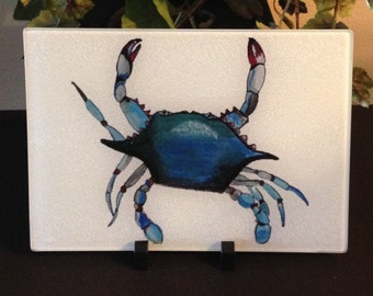 Blue Crab Cutting Board - Crab Tray - Cutting Board - Home Decor - Serving Tray - New Orleans Gift - Nola Cutting Board - New Orleans Decor