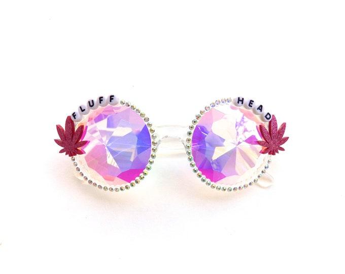"Phish ""Fluffhead"" kaleidoscope glasses, psychedelic diffraction glasses, funky festival eyewear"
