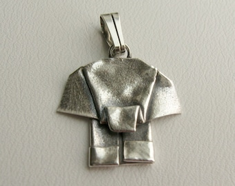 Silver Origami Elephant Mini Pendant - reserved for miley3