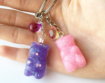 Gummy bear keychain//resin//keychain