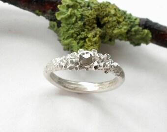 Nyx Grey Diamond Engagement Ring