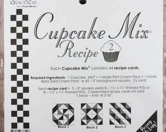 Cupcake Mix Recipe #2 - Quilt Pattern - Charm Pack Friendly - Miss Rosie's Quilt Company