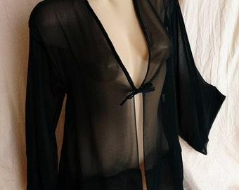 TIFFANY silk chiffon short robe