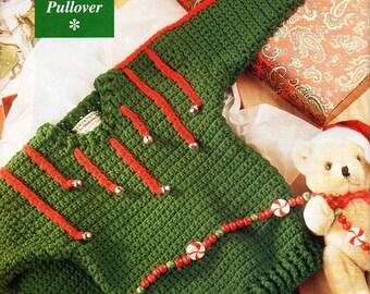 "Childrens Christmas crochet sweater pattern Crochet pattern pdf download Christmas Jumper bells 23-27"" DK crochet pattern pdf download"