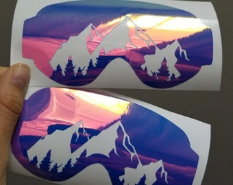 Ski Goggles Decal | Snowboard Decal | Car Sticker | Laptop Sticker