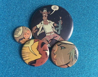 TANK GIRL buttons / pins set