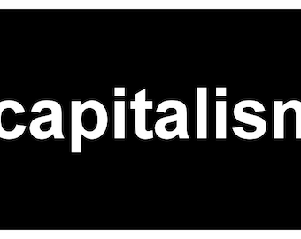 New Cute Black Comedy Sticker Geek Nerd Anti Capitalist Capitalism Socialist Communist Anarchist
