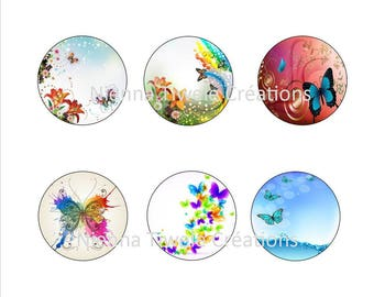 20 picture butterfly for cabochon to print