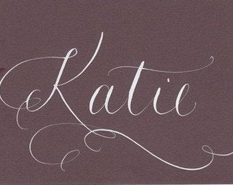 wedding place cards custom calligraphy