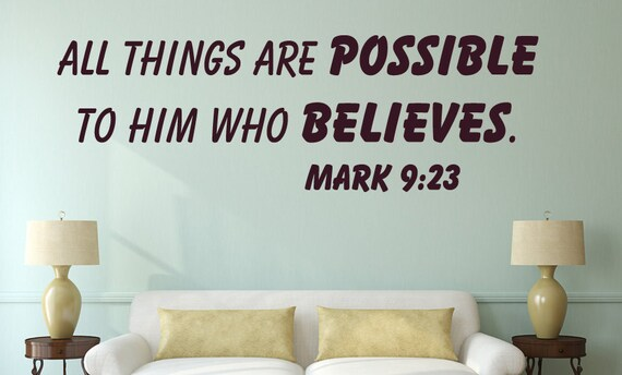 Mark Wall Decal Bible Verse Wall Decal Christian Wall - Wall decals bible verses