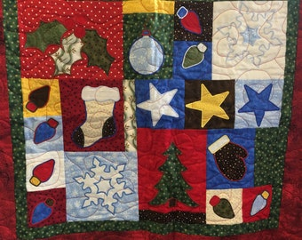 Christmas Wall Hanging or Table Cloth