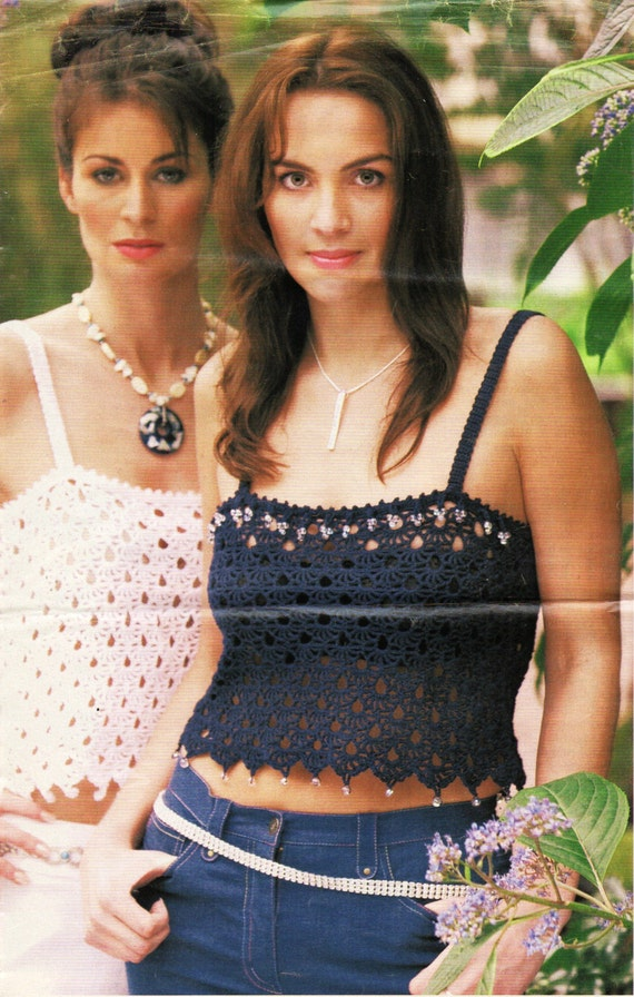 Womens CROCHET PATTERN Ladies Crochet Tops Womens Crochet Tops