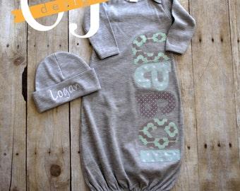 Newborn Gray Gown