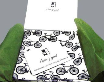 Handmade Bicycle Pocket Square