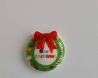 Merry Christmas Wreath Magnetic Needle Minder / Needle Nanny