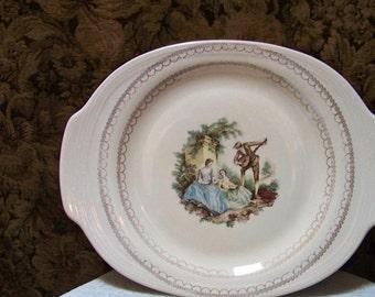 American Limoges Platter - Sheffield U.S.A. Warranted 22K Gold