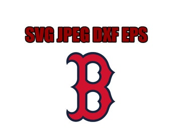 Boston Red Sox SVG File - Vector Design in, Svg, Eps, Dxf, and Jpeg Format for Cricut and Silhouette, Digital download !!!!!!!!!!!!!!!!!!